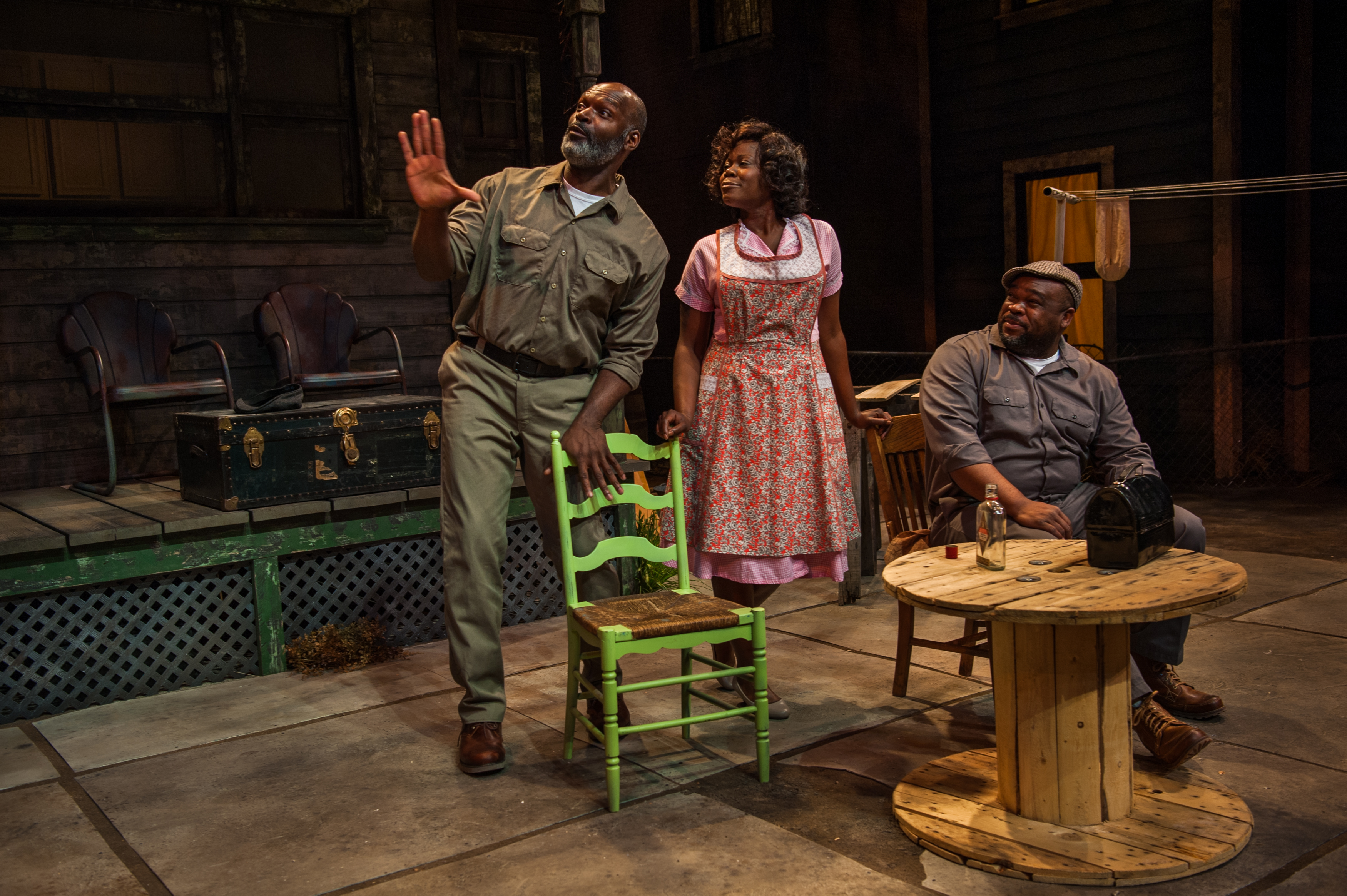 Three actors perform August Wilson's Fences in April 2018 at Denver's Lone Tree Arts Center