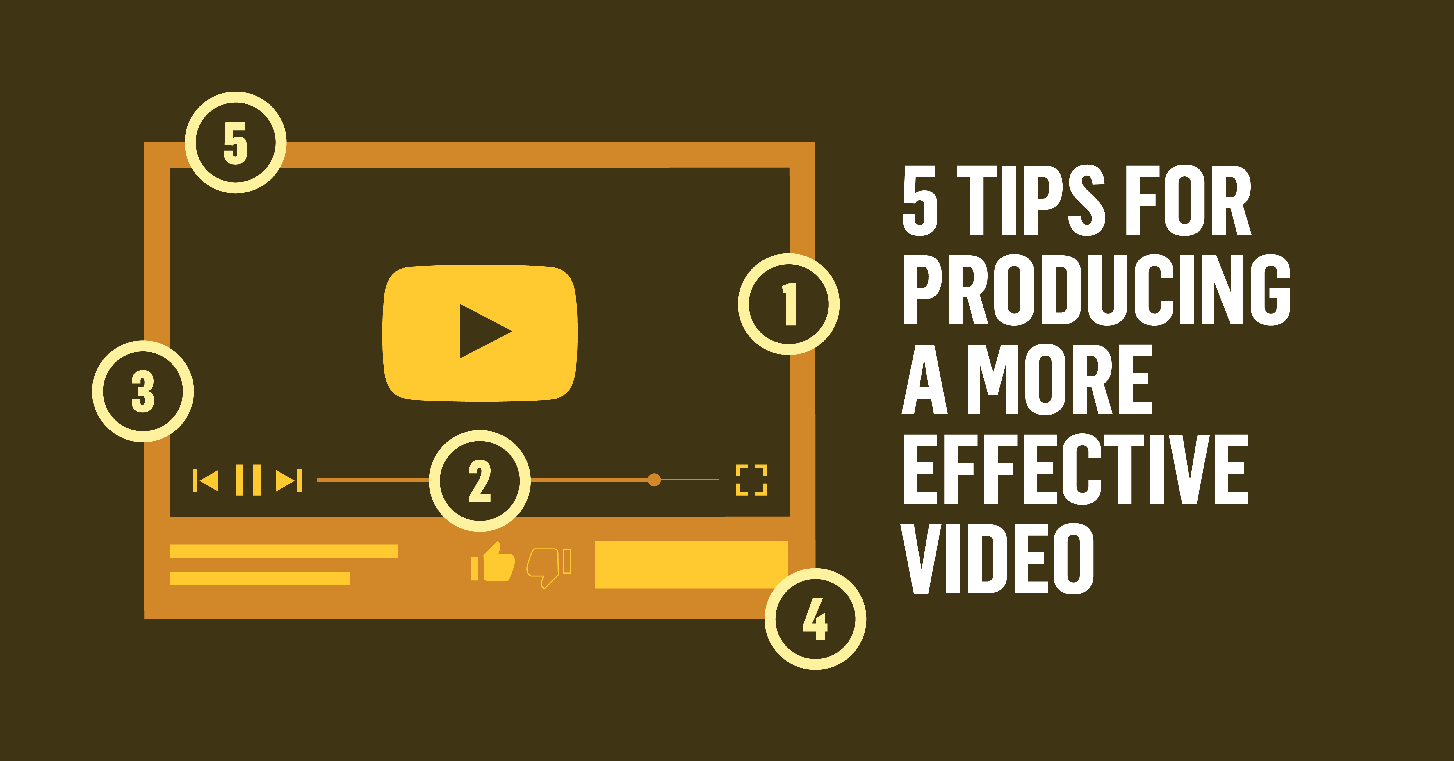 5 Tips for Producing a More Effective Video