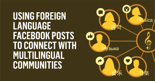Using Foreign Language Facebook Posts to Connect with Multilingual Communities