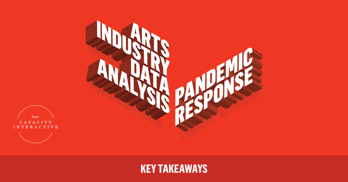 Key Takeaways from Arts Industry Data Analysis-  Pandemic Response