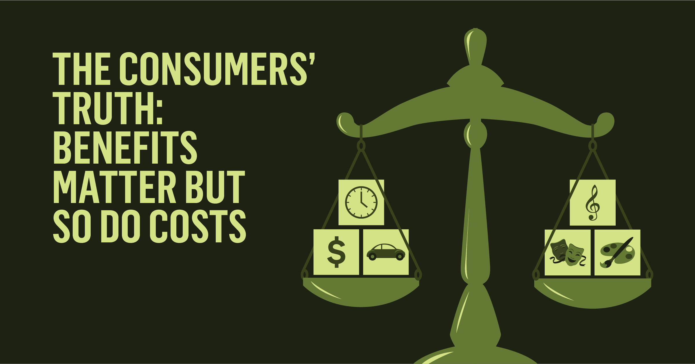 The Consumers' Truth: Benefits Matter But So Do Costs