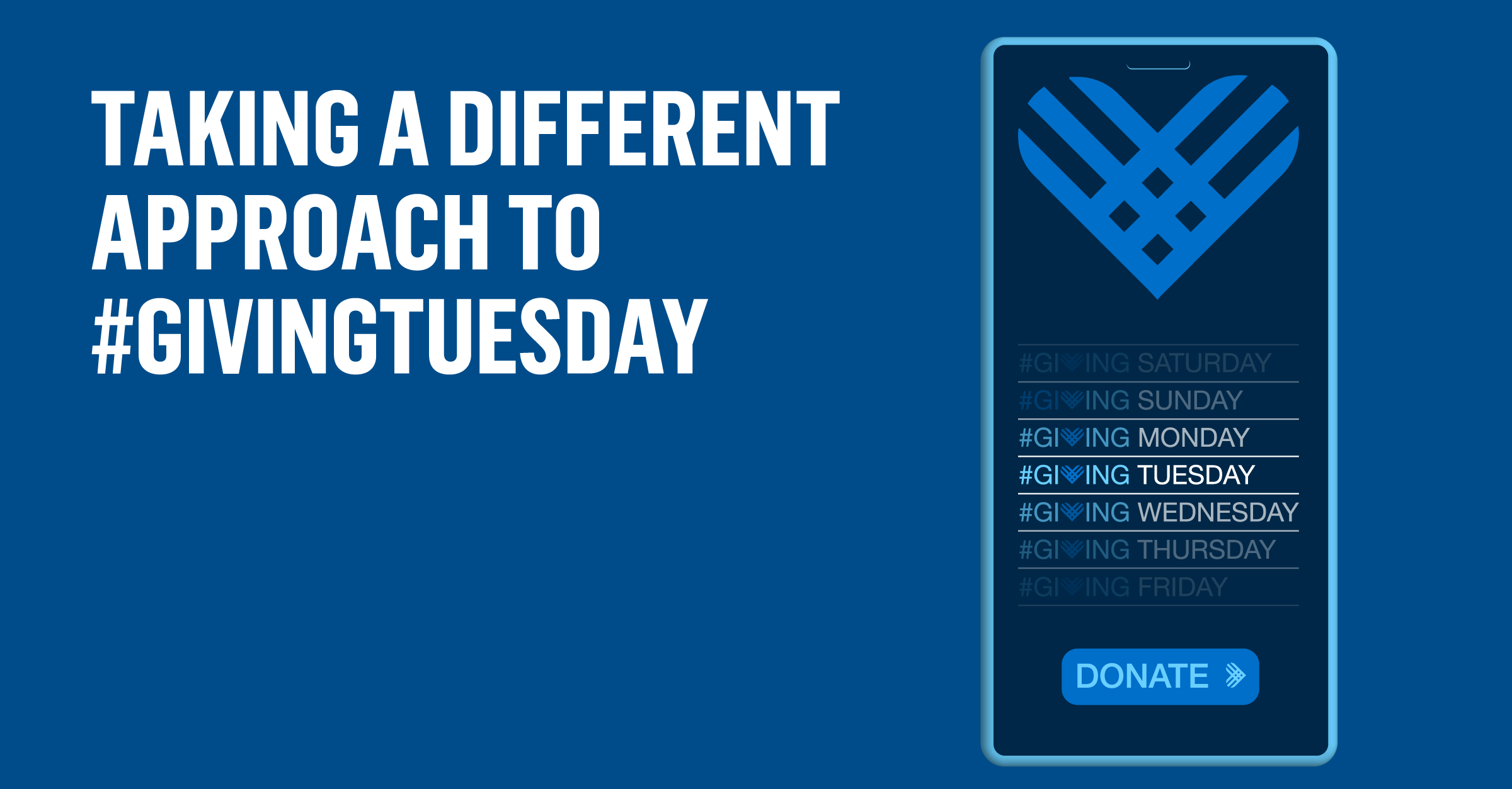 Giving Tuesday Different Approach