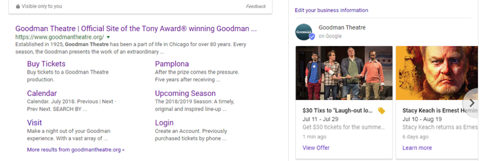 Google My Business Performance and Ticket Features