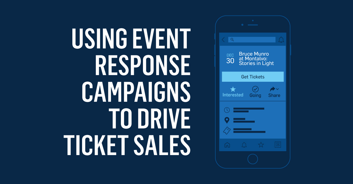 Using Event Response Campaigns to Drive Ticket Sales