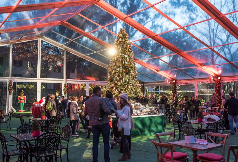 Photo of the Inside of The MFAH's Christmas Village