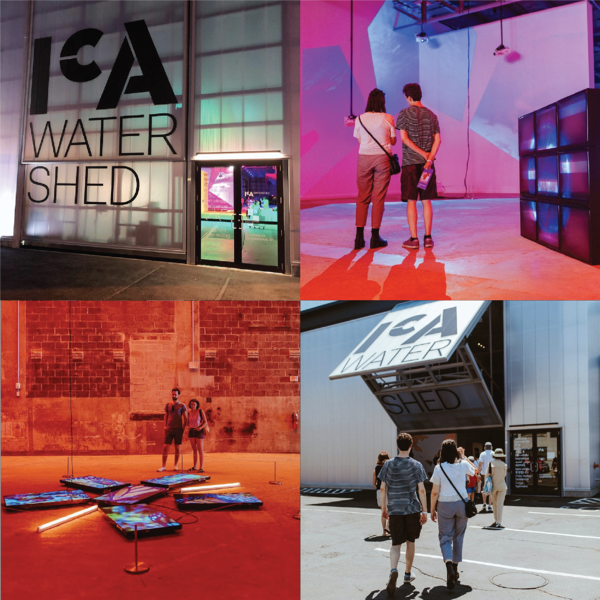 Photo collage of inside and outside views of the ICA Watershed