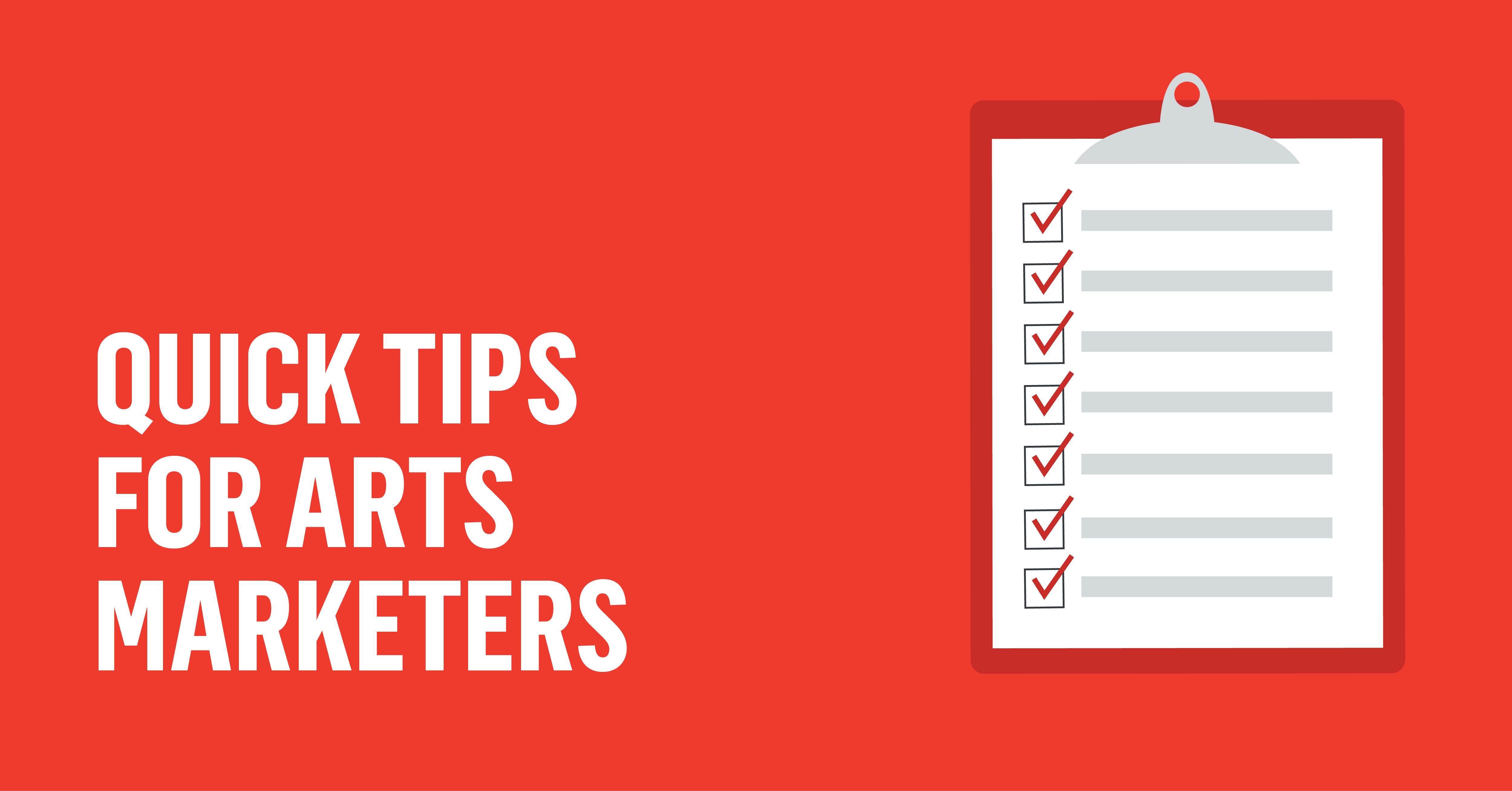 Quick Tips for Arts Administrators-01